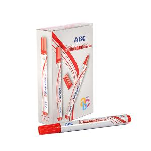 ABC whiteboard chisel red pen (pack of 12)