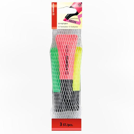 STABILO NEON pack of 3 colors