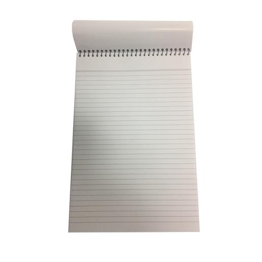 Writing pad white A4 spiral